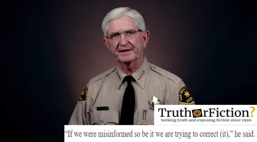 San Diego Sheriff Admits No Doctor Verified 'Overdose' Claim in Viral Video