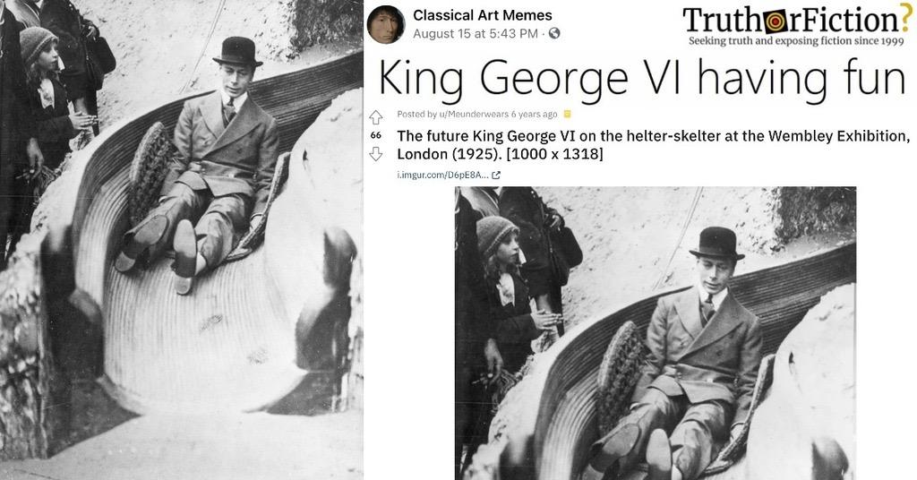 'King George VI Having Fun'