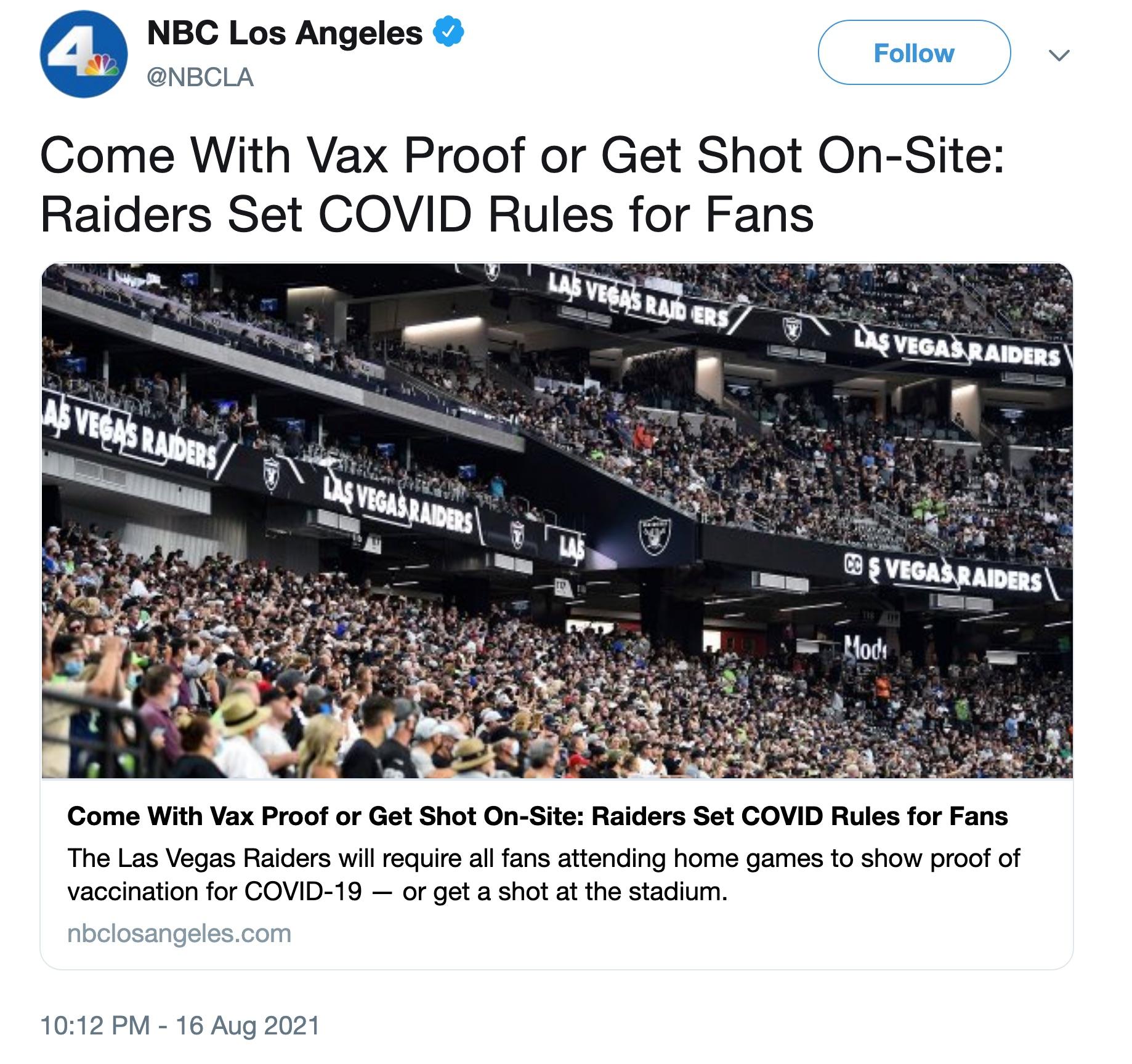 NBC LA shot on sight tweet deleted