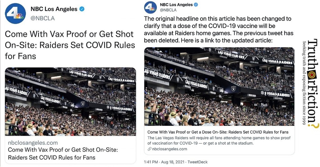 NBC LA 'Shot On-Site' Tweet