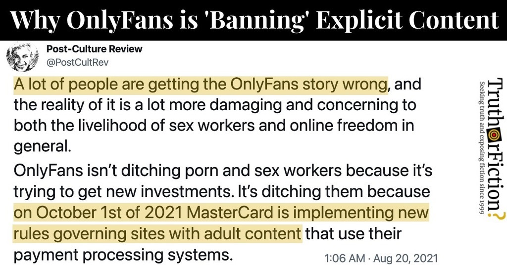 Why is OnlyFans Banning Content?