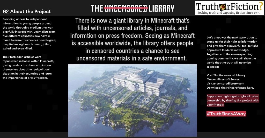 Uncensored Library in Minecraft