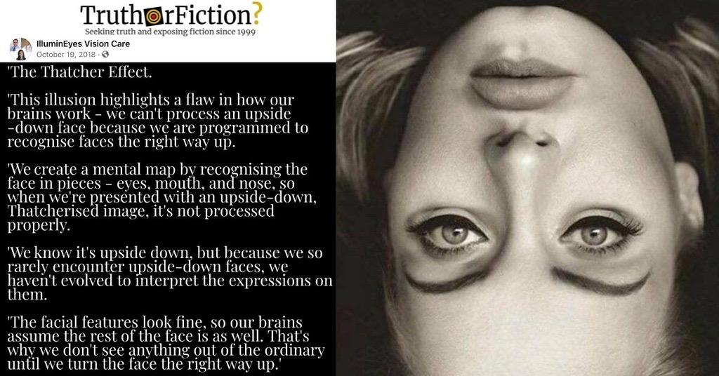 'Thatcher Effect'