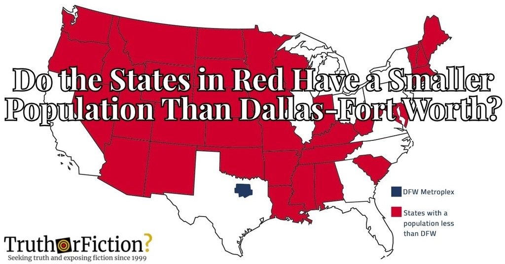 'States With a Population Less Than DFW'