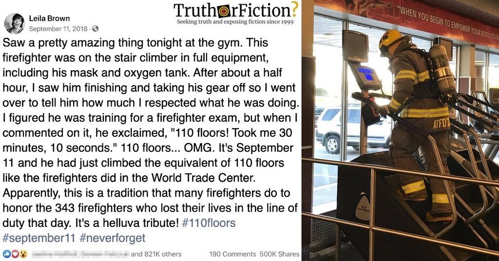 9/11 Stair Climb Treadmill Post