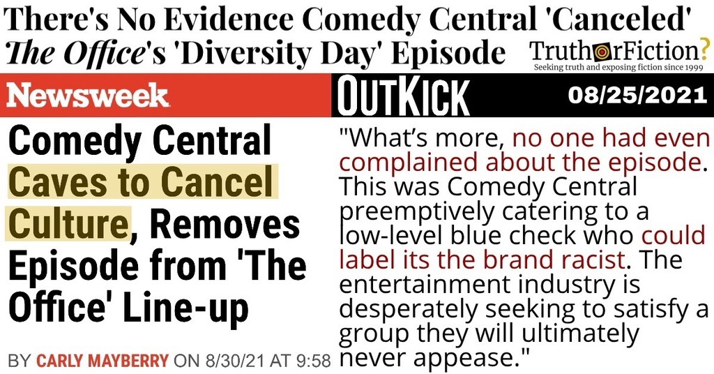 'Comedy Central Caves to Cancel Culture'