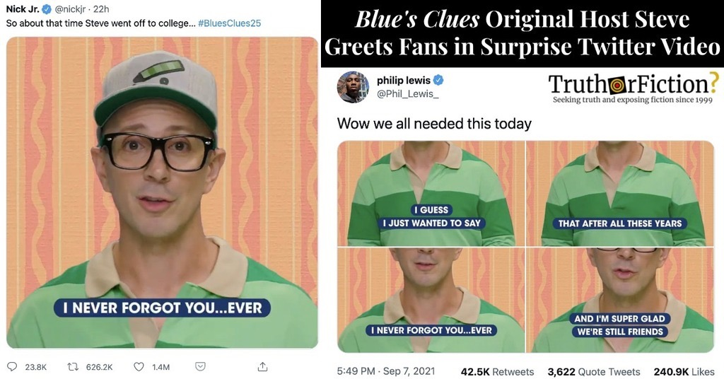 Surprise 'Blue's Clues' Message from Steve in 2021