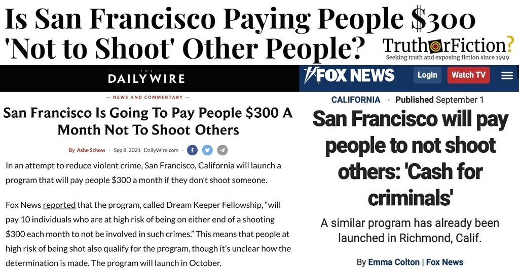 Is San Francisco Paying Criminals $300 a Month Not to Shoot People?
