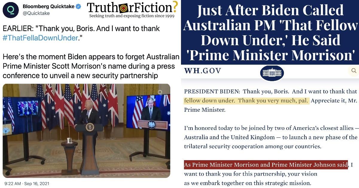 Biden 'Fellow Down Under' Controversy