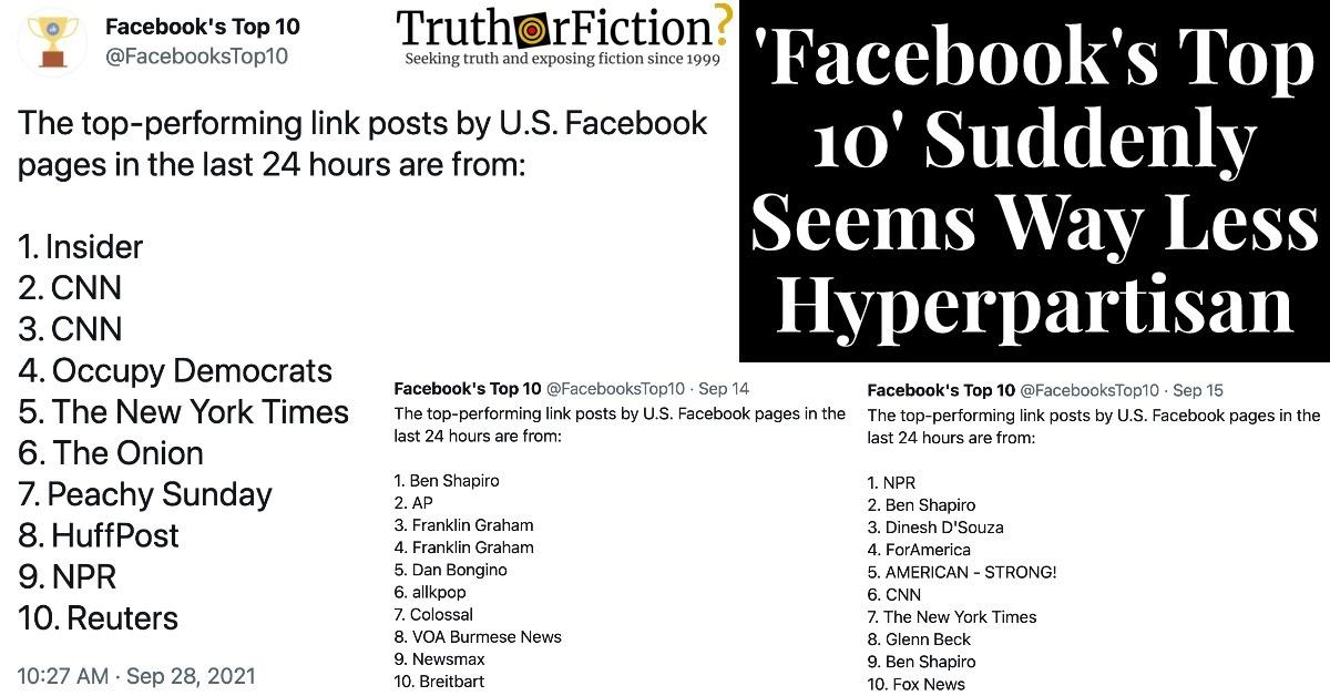 'Facebook's Top Ten' on Twitter Abruptly Changes