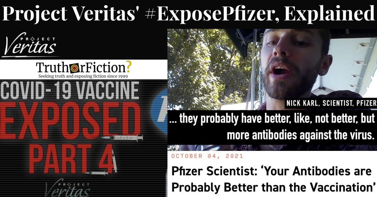 Project Veritas and 'Nick Karl From Pfizer'
