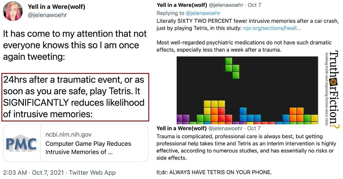Tetris and Trauma