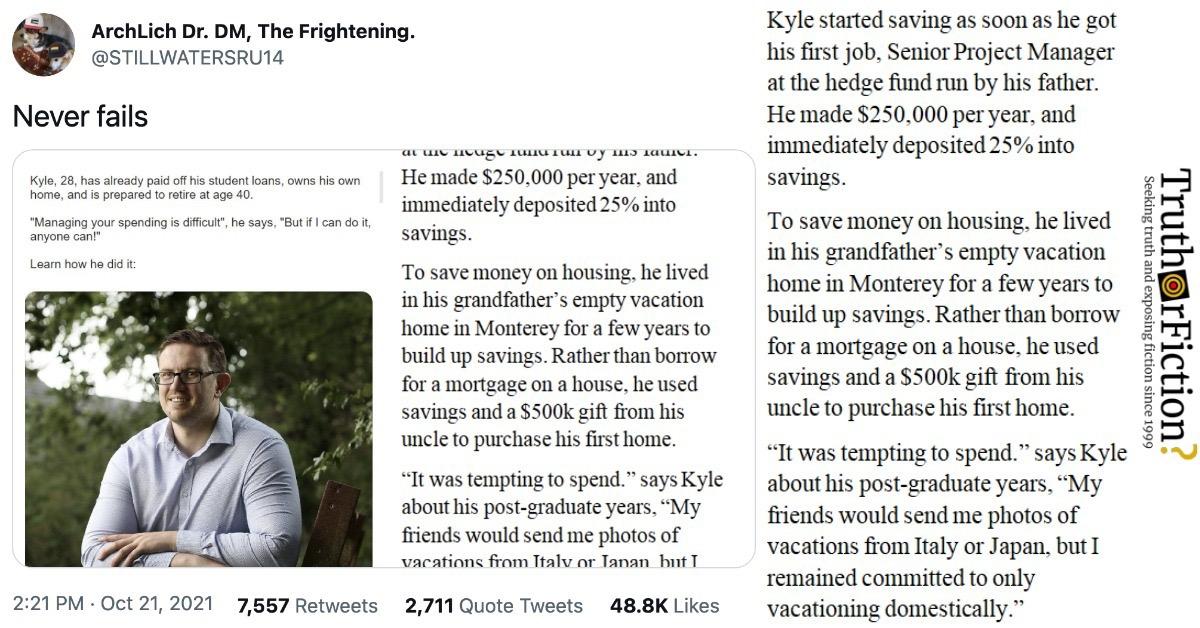Telegraph Money 'Kyle' Tweet